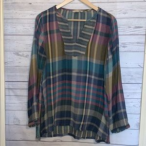 Soft Surroundings Multi Colored Long Sleeve Tunic